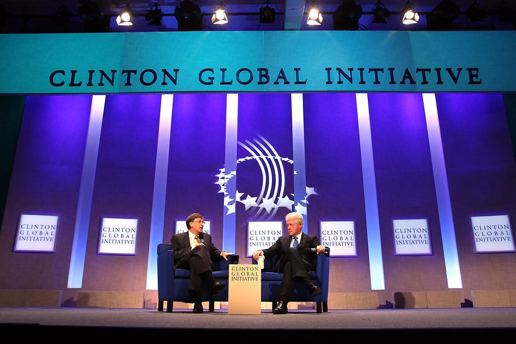 Bill Gates and Bill Clinton at the annual Clinton Global Initiative in 2010